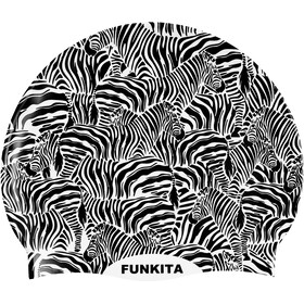Funkita Silicone Swimming Cap, zebra crossing